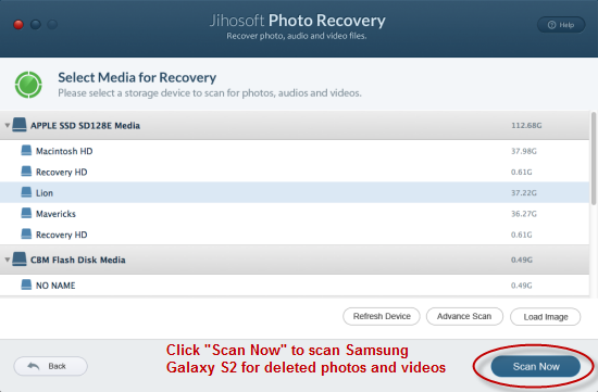 How to Recover Deleted Photos on Samsung Galaxy S2
