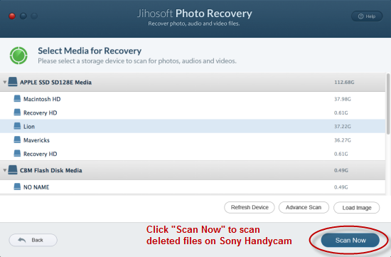 sony handycam video recovery