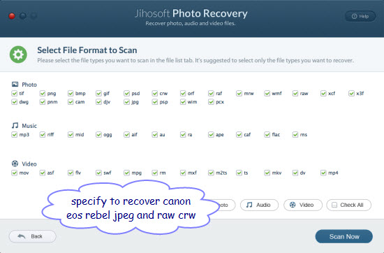 How to Recover Deleted/Lost Photos from Canon EOS Rebel