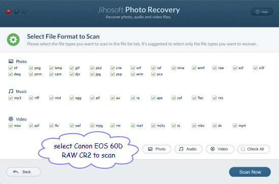 How to Recover Deleted/Formatted Photos from Canon EOS 60D