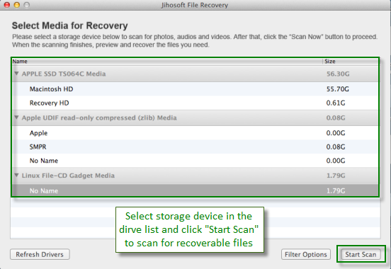 Jihosoft File Recovery for Mac