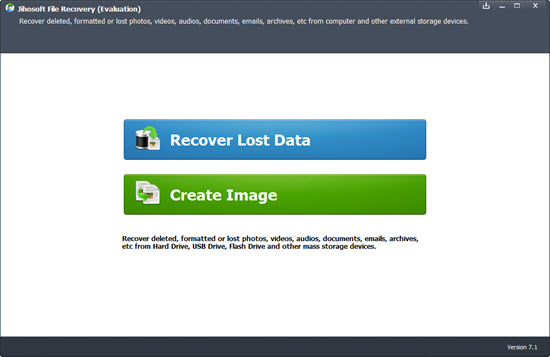 Screenshot of Jihosoft File Recovery 7.1