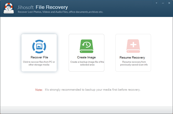 Jihosoft File Recovery full screenshot