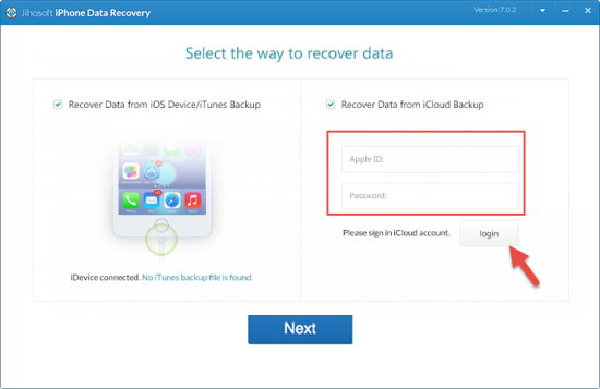 Restore Data from iCloud Backup