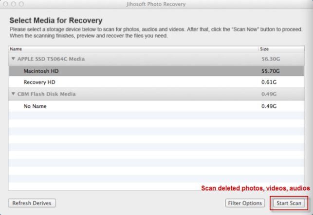 Jihosoft Photo Recovery for Mac
