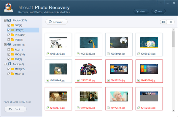 Windows 7 Jihosoft Photo Recovery 8.23 full