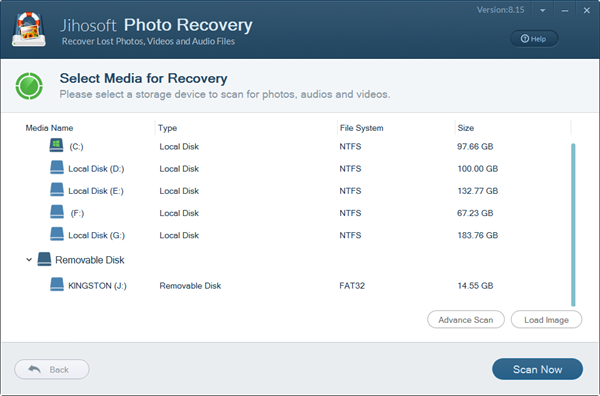Jihosoft Photo Recovery User Guide