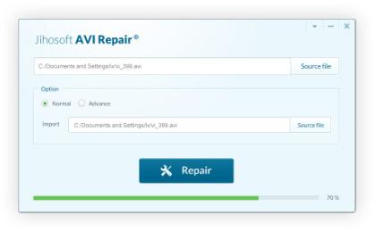 Jihosoft AVI Repair full screenshot