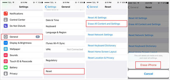 Reset Your iPhone/iPad to Factory Settings