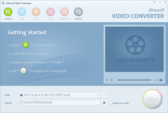 Windows 7 Jihosoft HD Video Converter 2.0 full