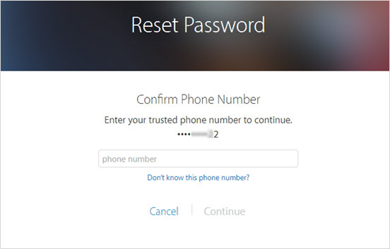 Reset with two-factor authentication