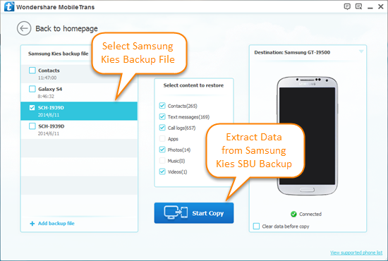 How to Extract Data from Samsung Kies SBU Backup