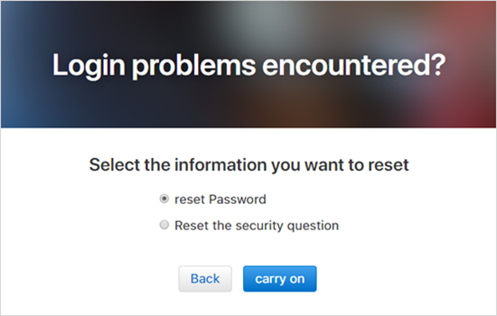 Reset with email and security questions