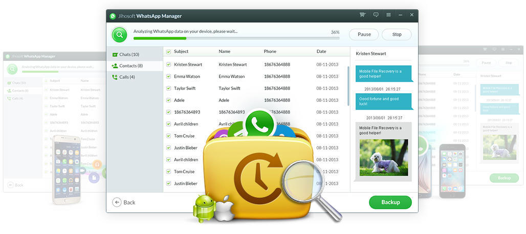 Backup&Restore WhatsApp Files on Android/iOS