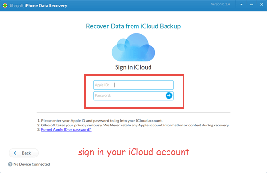 Restore data on water damaged iPhone from iCloud backup