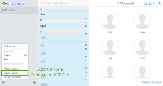 Move Contacts from iPhone to Android by iCloud