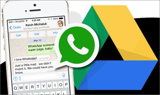 sauvegarde whatsapp google drive