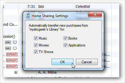 Copy iTunes Library to New Computer via Home Sharing