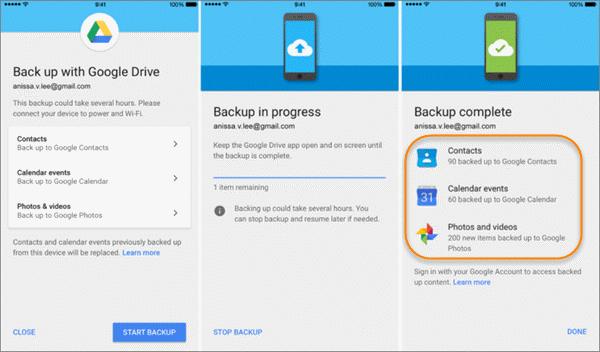 Restore Android Data From Google