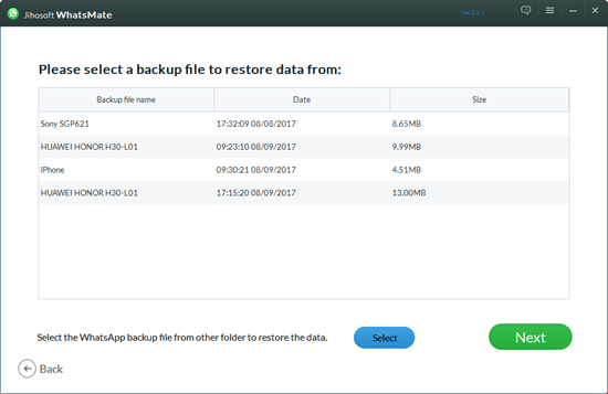 Restore WhatsApp from Android Backup to iPhone