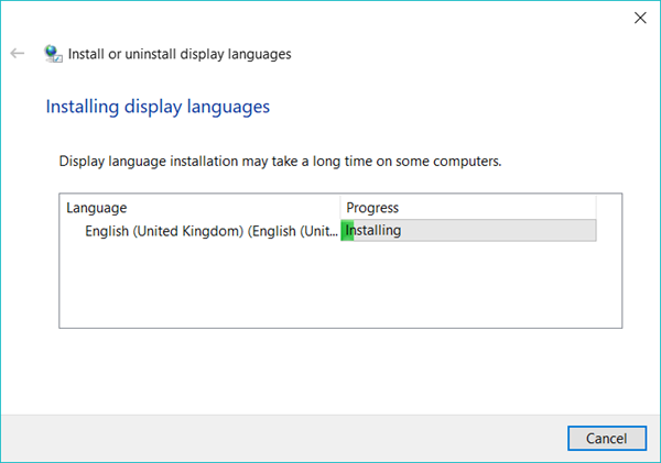 windows 10 pro language pack español