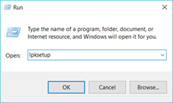 windows 10 home language pack install
