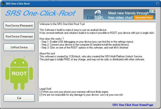 SRSRoot is one of the best Android Root Softwares.