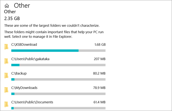 Delete big folders and files in Windows 10