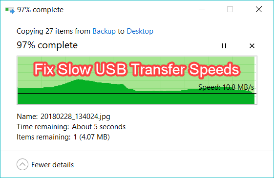 How to Fix Slow USB Transfer Speeds in Windows 10