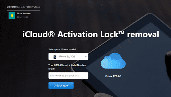 Remove iCloud Activation Lock Tool.