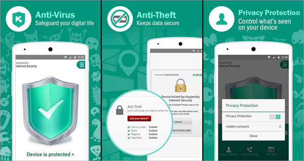 Kaspersky is one of Top 5 Best Antivirus Apps for Android for Virus Removal.