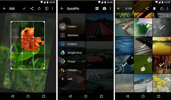 QuickPic is one of the 5 Best Free Gallery Apps for Android 2019.