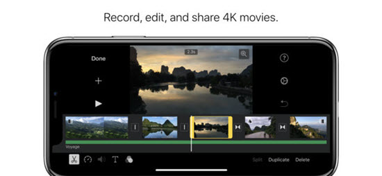 iMovie 3.9/23.3K is one of the Best Video Editor Apps for iPhone/iPad in 2019.