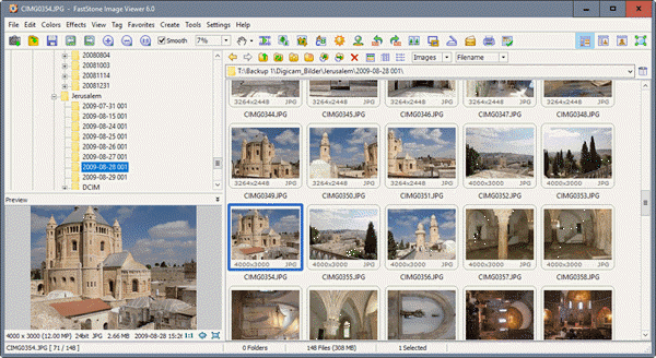 FastStone Image Viewer is one of Windows Photos Alternatives to View Photos on Windows 10.