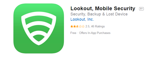 Lookout Mobile Security is one of the top 8 Best Free Antivirus for iPhone/iPad in 2019.