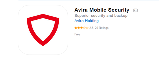 Avira Mobile Security is one of the top 8 Best Free Antivirus for iPhone/iPad in 2019.