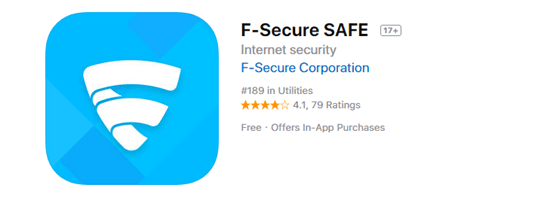 F-Security SAFE is one of the top 8 Best Free Antivirus for iPhone/iPad in 2019.