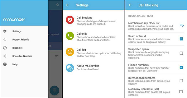 Mr. Number is one of the Best 5 Call Blocker Apps for Android.