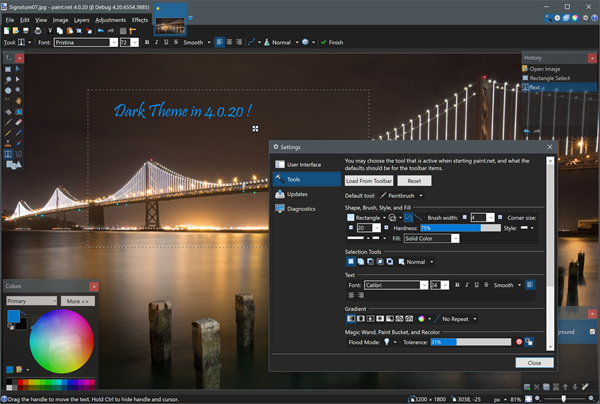 PAINT.NET is one of the best 6 Free Photo Editor Softwares for Windows PC.
