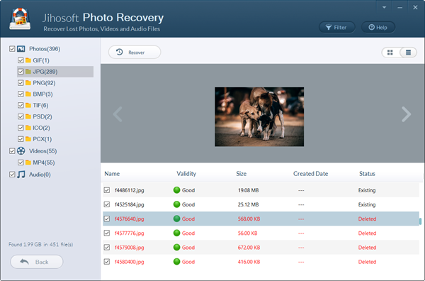 Recover deleted photos from Nikon DSLR.