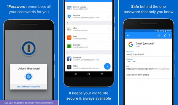 1Pasword is one of the top 6 Best Android Password Manager Apps.