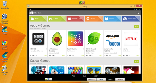 Andy Android Emulator is one of the best Free Online Android Emulators For Windows.