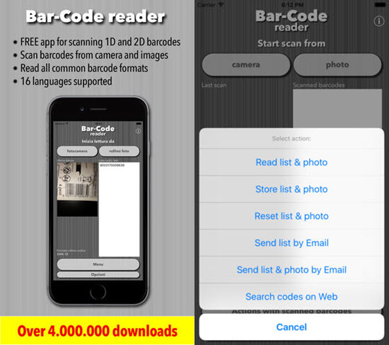 Bar Code is one of the best Barcode and QR-Code Scanner Apps for iPhone in 2019.