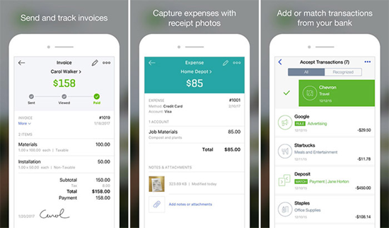 QuickBooks is one of the best Business Apps for iPhone Users to Track Work 2019.