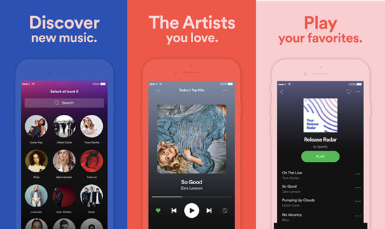 Spotify is one of the best Offline Music Apps for iPhone.