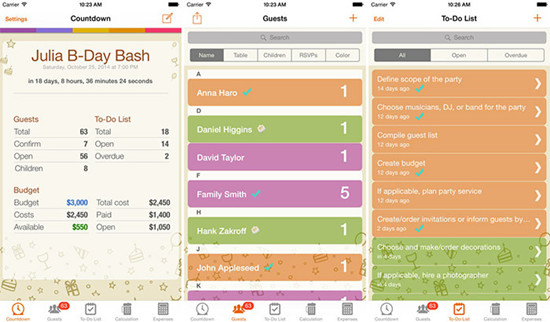Birthday & Party Planner is one of the top 10 Best Party Planning Apps for iPhone.