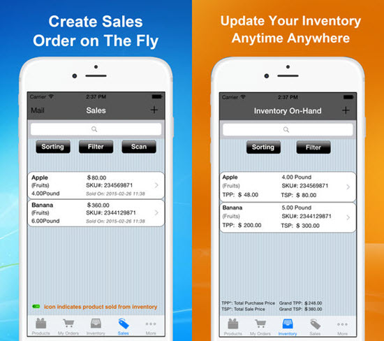 Goods Order Inventory is one of the best Inventory Management Apps for iOS in 2019.