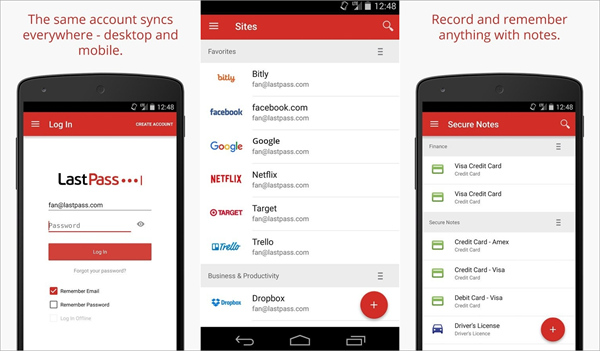 LastPass is one of the top 6 Best Android Password Manager Apps.