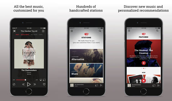 Slacker Radio is one of the best Offline Music Apps for iPhone.