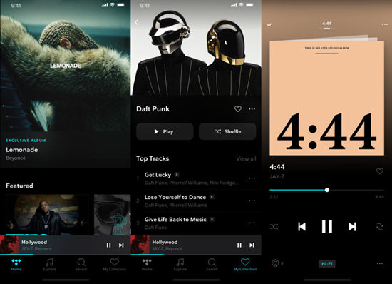 TIDAL is one of the best Offline Music Apps for iPhone.
